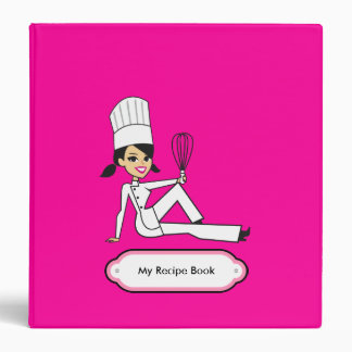 Personalized Recipe Journal with Illustration Vinyl Binder