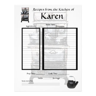Personalized recipe page