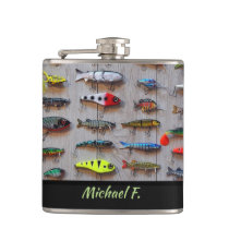 Personalized Recreational Fishing Lure Flask