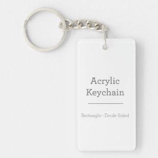Personalized Rectangular Keychain