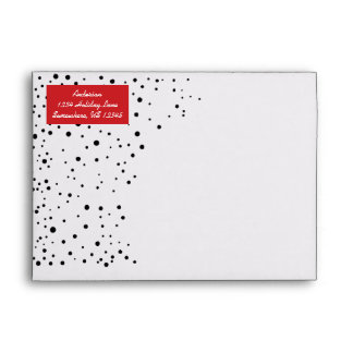 Personalized Red and Black A Year In Review Envelopes