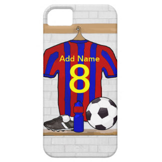 Personalized Red and Blue Football Soccer Jersey iPhone 5 Cover