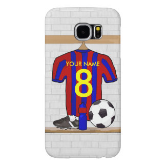 Personalized Red and Blue Football Soccer Jersey Samsung Galaxy S6 Case