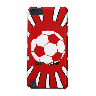 Personalized red and white soccer design iPod touch 5G cases