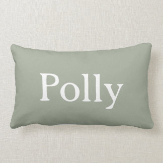 Personalized Red and White Throw Pillow