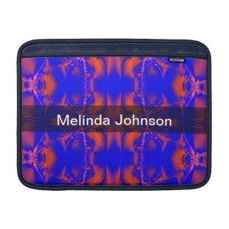 Personalized red blue abstract art sleeve for MacBook air