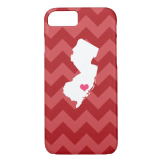 Personalized Red Chevron New Jersey Heart iPhone 7 Case