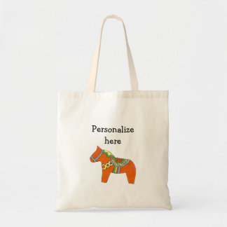 Personalized Red Dala Horse tote bag