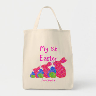 Personalized Red Easter Bunny My First Easter Bag