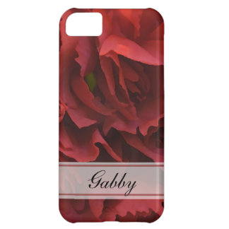 Personalized Red Floral iPhone 5C Covers