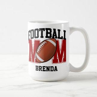 Personalized (red) Football Mom Coffee Mug