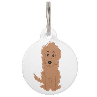 Personalized Red Goldendoodle Dog Design Pet Tag