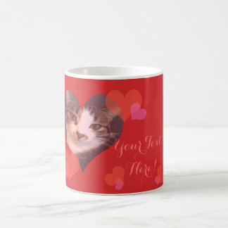 Personalized Red Hearts Valentine Coffee Mug