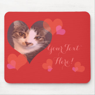 Personalized Red Hearts Valentine Mouse Pad