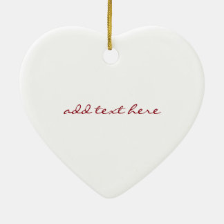 Personalized Red Hearts Valentine's Day Ceramic Ornament