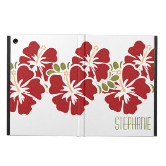 PERSONALIZED RED HIBISCUS COVER FOR iPad AIR