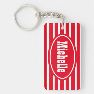 Personalized Red HS Western Keychain