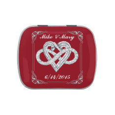 Personalized Red Infinity Heart Candy Tin at Zazzle