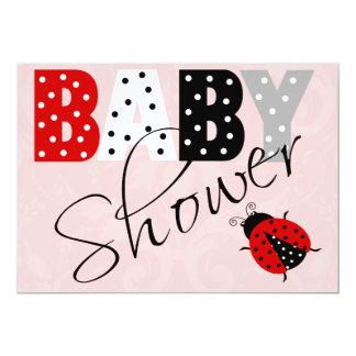 Personalized Red Ladybug Baby Shower Invitation