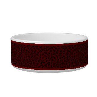 Personalized Red Leopard Skin Pet Bowl