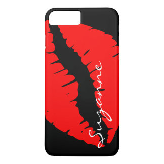 Personalized Red Lips iPhone 7 Plus Case