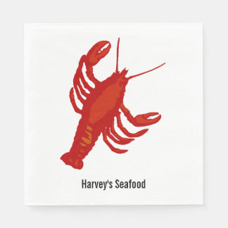 Personalized Red Lobster Napkins