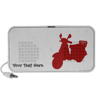 Personalized Red Motor Bike Doodle PC Speakers