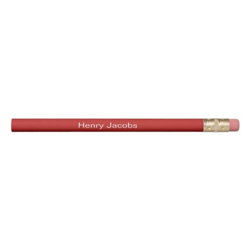 Personalized Red Pencil