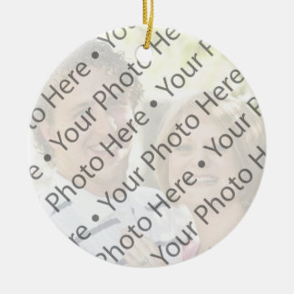 Personalized Red Photo Christmas Ornaments w/ Name Christmas Tree Ornament