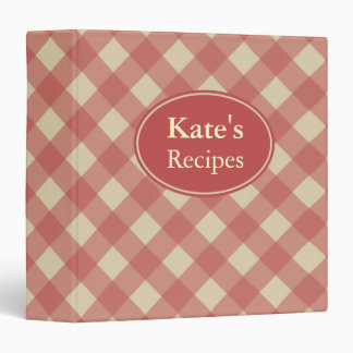Personalized Red Recipe Binder