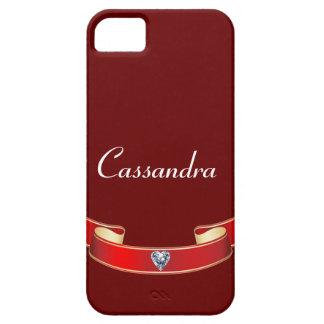 Personalized Red Ribbon Diamond Case