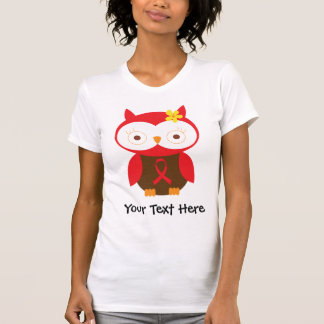 Personalized Red Ribbon Owl T Shirt