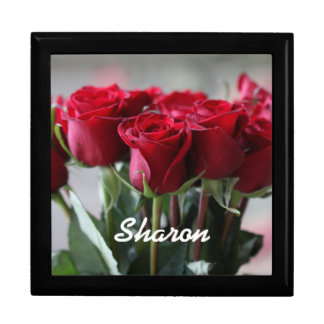 Personalized Red Roses Gift Box