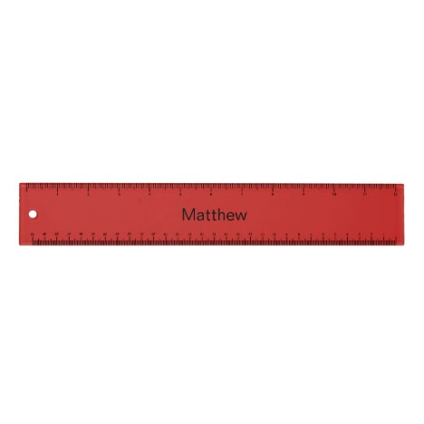 Personalized Red Ruler