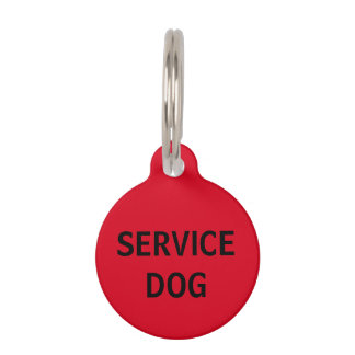 Personalized Red Service Dog Pet Tag