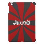Personalized Red Swirl iPad Mini Cover