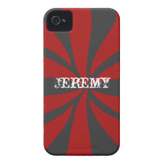 Personalized Red Swirl iPhone 4 Case