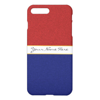 Personalized Red, White and Blue Stripes iPhone 7 Plus Case