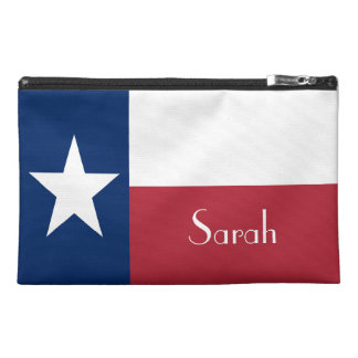 Personalized Red, White, and Blue, with Star Travel Accessories Bags