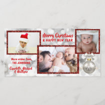 Personalized Red White Christmas Holiday | PHOTO