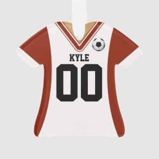 Personalized Red/White Soccer Jersey