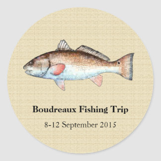 Personalized Redfish Fishing Event Stickers