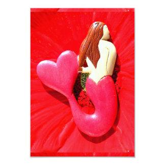 personalized redhead mermaid card