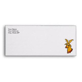 Personalized Reindeer Christmas Envelope