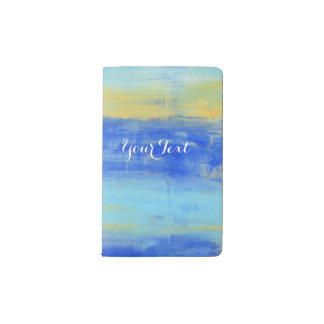 Personalized Relaxing Beach Blue Urban Turquiose Pocket Moleskine Notebook
