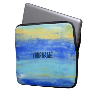 Personalized Relaxing Blue Laptop Sleeve 13 inch