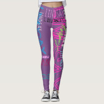Personalized Repeating name 7 letters Leggings