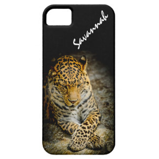 Personalized Resting Leopard iPhone 5 or 5S Case iPhone 5 Covers