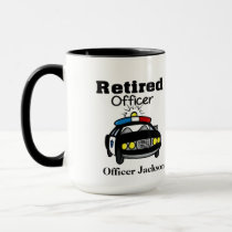 Personalized Retired Police Officer Coffee Mug