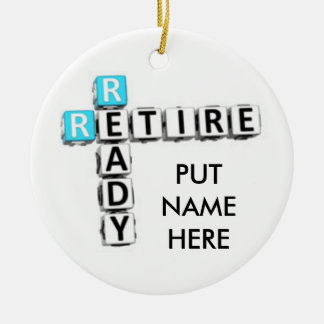 "PERSONALIZED ""RETIREE'S"" CHRISTMAS ORNAMENT"
